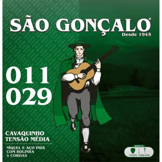Encordoamento Para Cavaquinho em Aço .011 Média SÃO GONÇALO (4584)