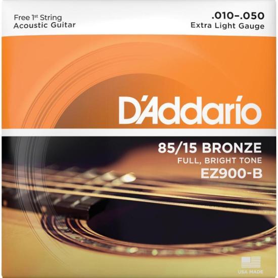Encordoamento para Violão em Aço .010 Bronze D'ADDARIO