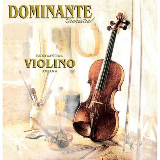 Encordoamento Para Violino 4/4 Aço Inox DOMINANTE (4670)