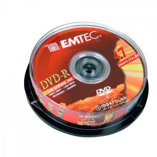 DVD-R 120 Minutos 4,7GB Pino com 25 Peças EMTEC (47018)