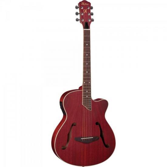 Violão Hofma HMF240 Eletroacústico Vintage Vermelho Aço (47974)