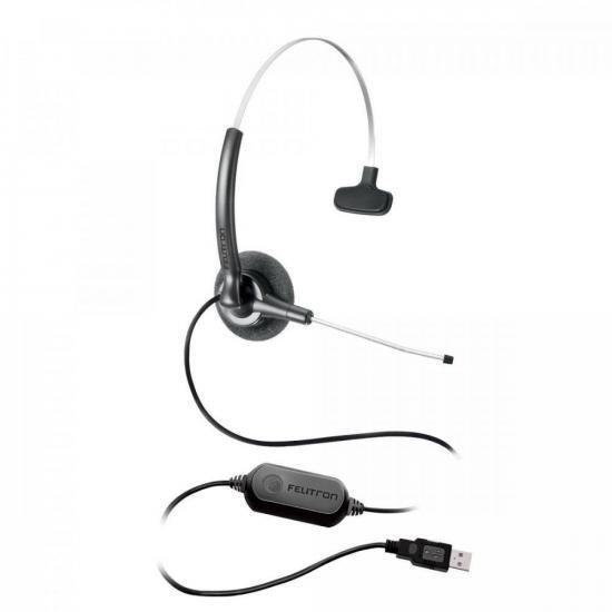 Fone Headset STILE COMPACT VOIP SLIM Preto FELITRON (48514)