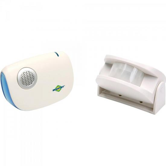 Anunciador de Presença c/ Sensor Branco BRASFORT