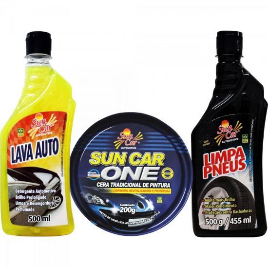 Kit de Limpeza Automotiva 4 Peças SUN CAR