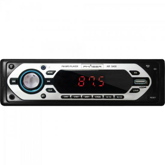 Auto Rádio USB/SD AR 5400 PHASER (50213)