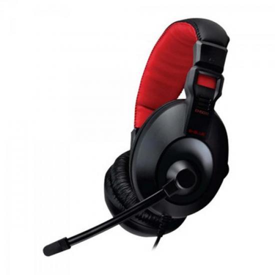 Headset Gamer CONQUEROR I Preto/Vermelho E-BLUE (51612)