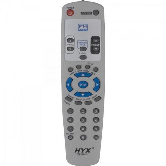 Controle Remoto para TV GRADIENTE FM CTV-GRA01 Cinza HYX