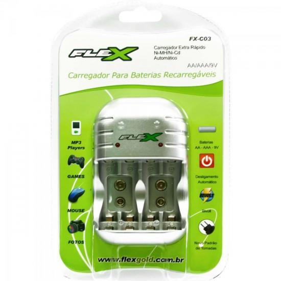 Carregador de Pilhas AA/AAA/9V FXC03 Bivolt FLEX