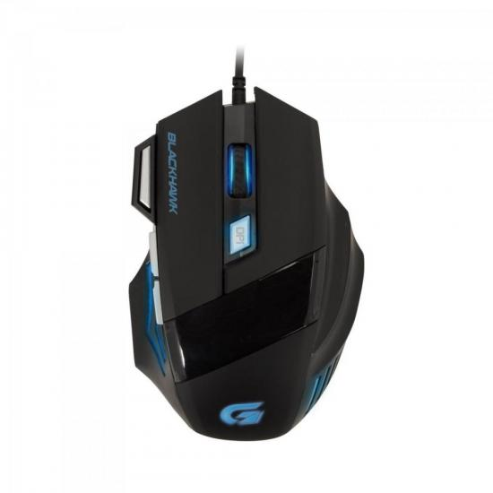 Mouse Gamer BLACK HAWK OM-703 Preto/Azul FORTREK