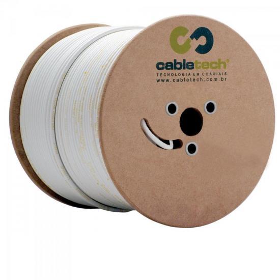 Cabo Coaxial RG6 60 BR BOBINA CABLETECH (5236)