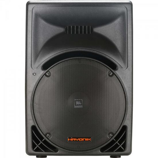 Caixa Acústica Ativa 400W Classe D CA3000A Preta HAYONIK