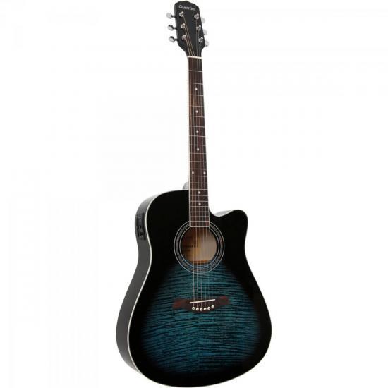 Violão Giannini GF1R Folk Eétrico Aço Dark Blue Burst