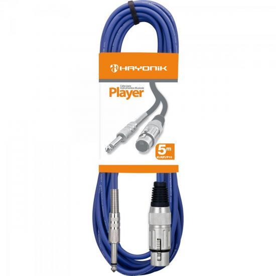 Cabo para Microfone XLR(F) X P10 5m PLAYER Azul HAYONIK