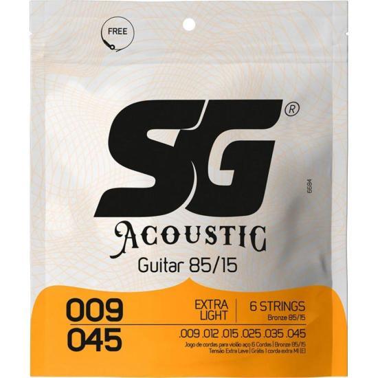 Enc SG P/Violao Aco 009 Bronze 85/15