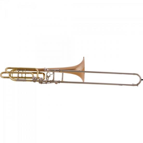Trombone de Vara Baixo Bb/F/Eb/D HSL-830L Laqueado HARMONICS