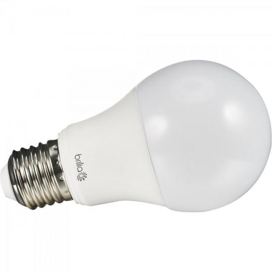 Lâmpada LED 6W 6500K Bivolt BULBO A60 Branca Fria BRILIA (55539)