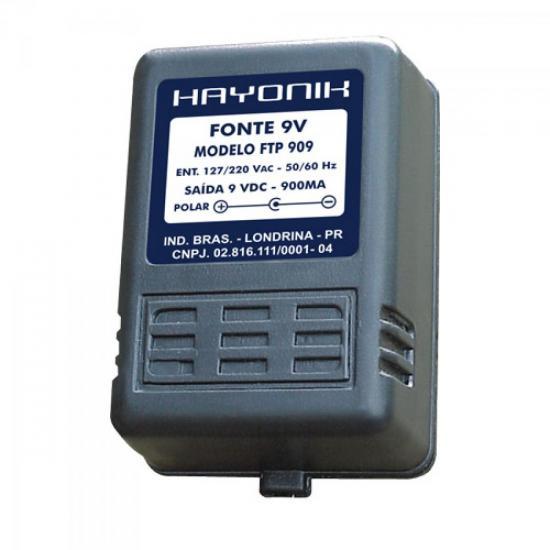 Fonte FTP-909 C- 9VDC 900mA HAYONIK