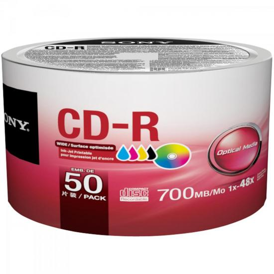 CD-R Bulk Printable 80min 700MB 48x 50CDQ80FBZ2LA SONY (55744)