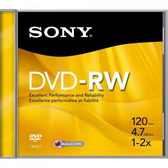 DVD-RW Slim Case 120 min 4.7GB 16x DMWE47SS SONY (55753)