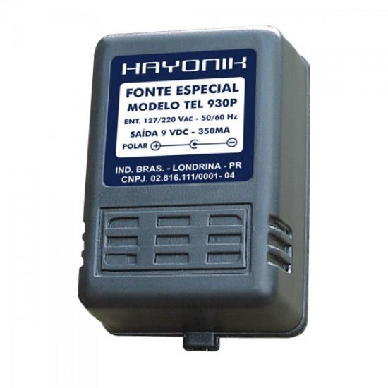 Fonte Telefone sem Fio Panasonic 9VDC 350mA TEL-930P HAYONIK