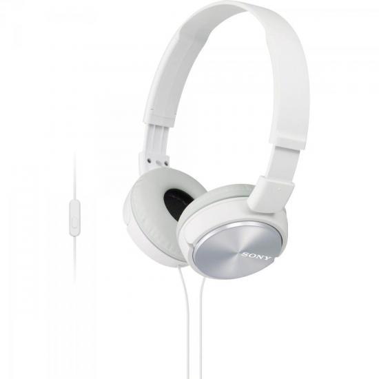 Fone de Ouvido com Microfone MDR-ZX310AP Branco SONY