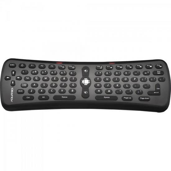Controle Remoto Mouse + Teclado Wireless SMART AM-100 Preto AQUÁRIO