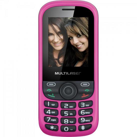 Celular 3 Chips com Câmera, MP3, Rádio FM P3199 UP Branco/Rosa (56117)