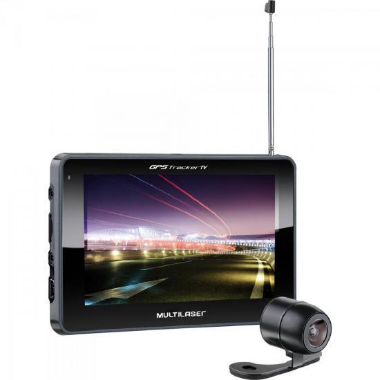 Navegador GPS 5 Tracker III com Câmera de Ré/TV/Rádio FM GP037 Preto (56369)