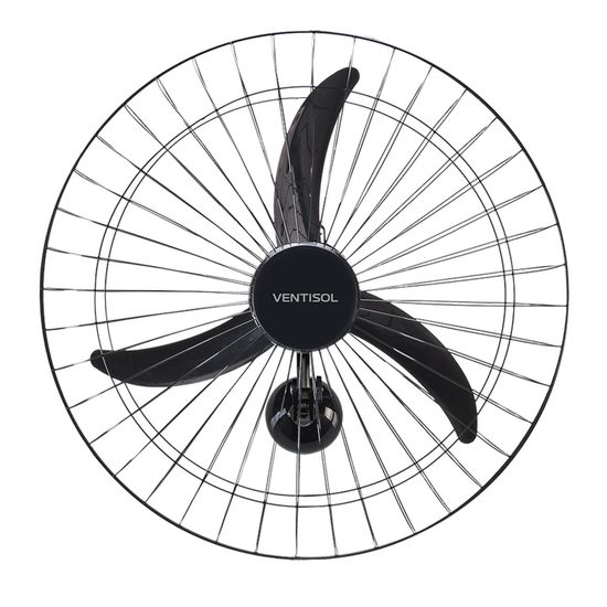 Ventilador de Parede 60cm 127V NEW PREMIUM Preto VENTISOL (56402)
