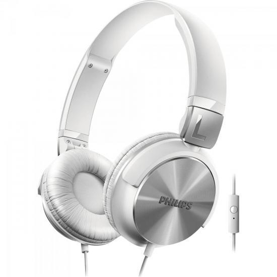 Fone de Ouvido Estilo DJ com Graves Nítidos e Microfone Integrado SHL3165WT/00 Branco PHILIPS