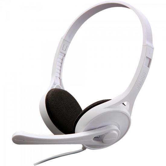 Headset com Alça e Microfone Ajustável K550 Branco EDIFIER