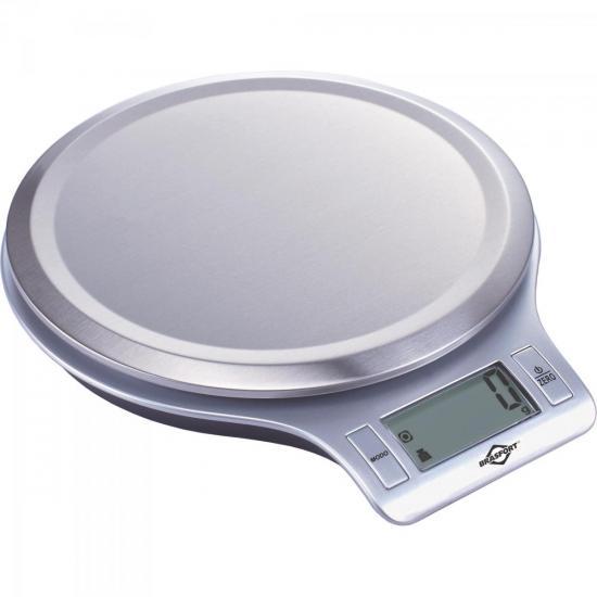 Balança de Uso Doméstico 5Kg Cinza BRASFORT
