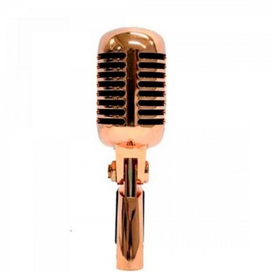 Microfone Dinâmico RETRÔ LC-55 Cobre LEACS (57407)