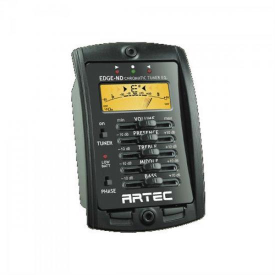 Pré Amplificador Para Violão EDGE-ND Preto ARTEC