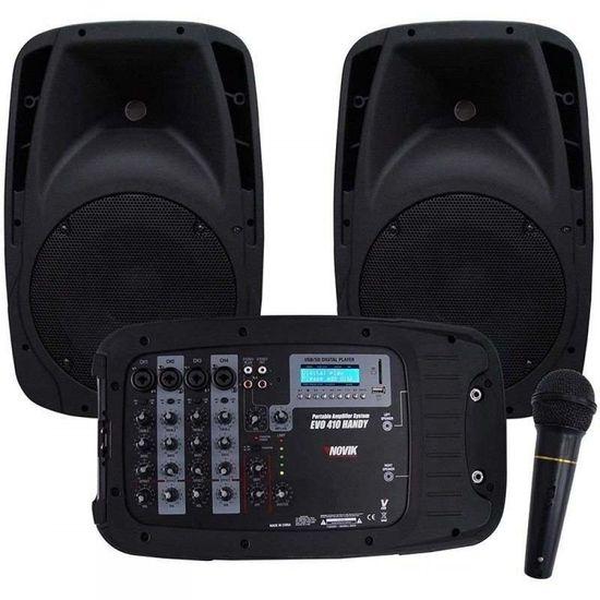 Kit de Som Portátil EVO 410 USB Preto NOVIK (57557)