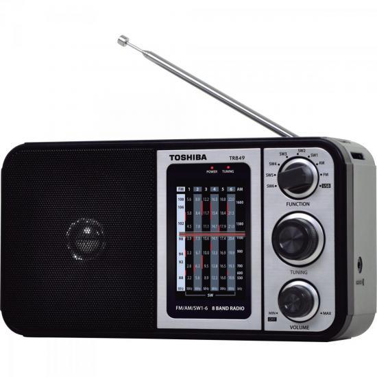 Rádio Portátil FM/AM/USB MP3 TR849 Preto SEMP TOSHIBA (57588)