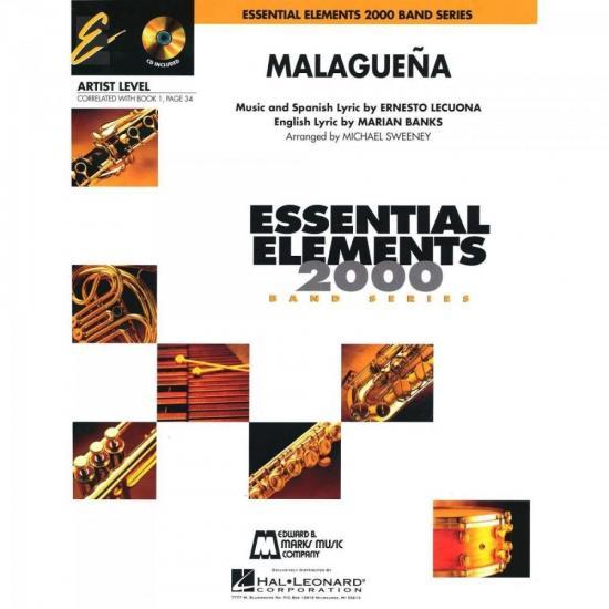 Grade de Partituras Malaguena Score Parts ESSENCIAL ELEMENTS