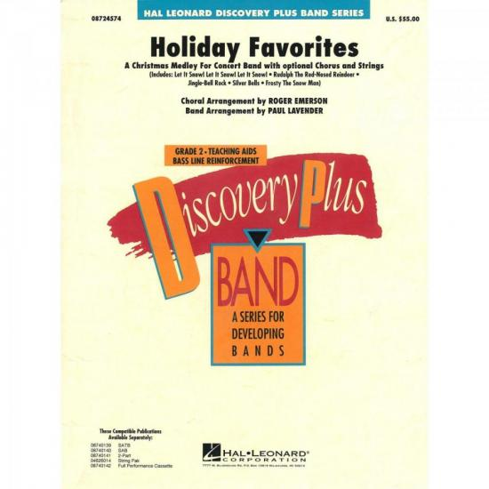 Grade de Partituras Holiday Favorites Score Parts ESSENCIAL ELEMENTS