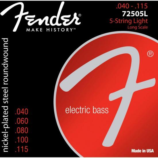 Encordoamento p/ Contrabaixo 5 cordas Aço 0.040 72505L Niquelado FENDER