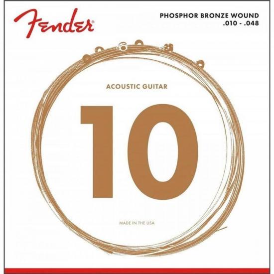Encordoamento para Violão Aço 0.010 60XL Bronze Fosforoso FENDER