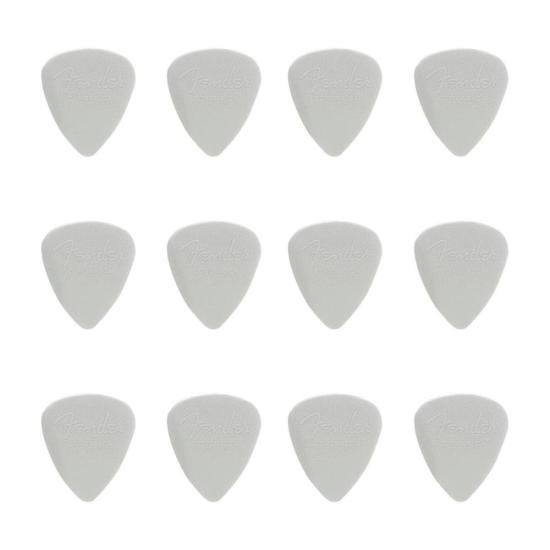 Palheta Nylon Pick 0.60 Fina White FENDER