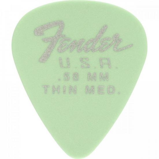 Palheta Dura-Tone 0.58 Thin Medium Surf Green FENDER