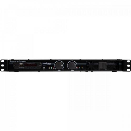 Amplificador 600W AMBIENCE PA-6000D Preto HAYONIK