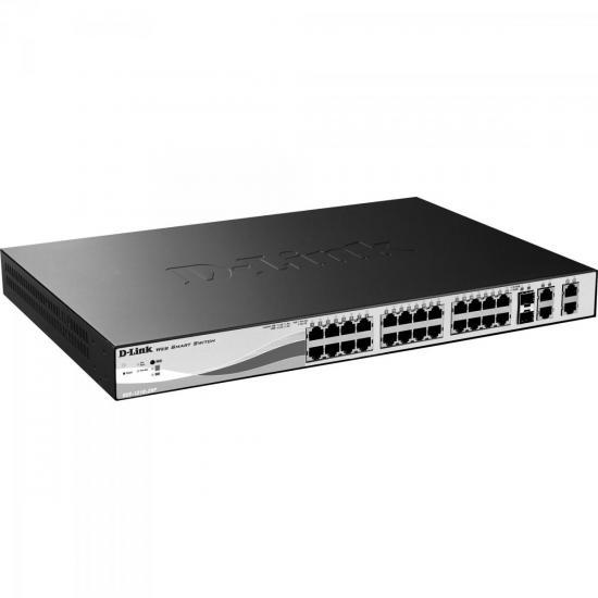 Switch Fast 28 Portas 100Mbps DES-1210-28P Preto D-LINK (58297)
