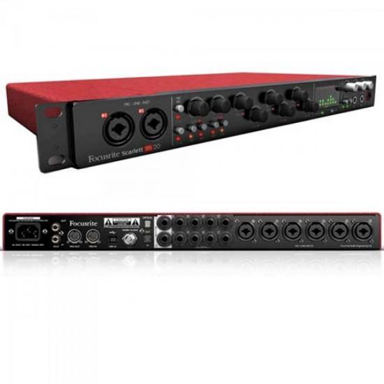 Interface para Áudio SCARLETT 18I20 Preto e Vermelho FOCUSRITE