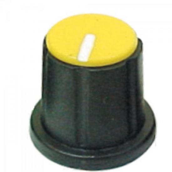 Knob Estriado para Mesa de Som KP-200 Amarelo SCOTT (5835)