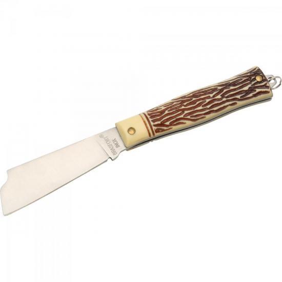 Canivete Inox sem Ponta LAMINA LARGA BRASFORT