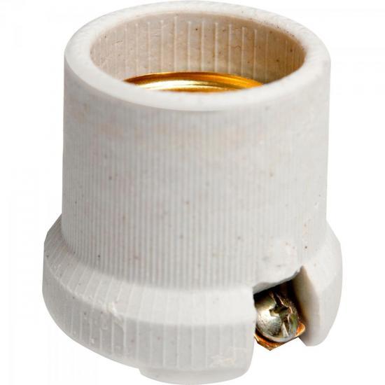Receptáculo Porcelana E27 BR-51N Branca BRASFORT