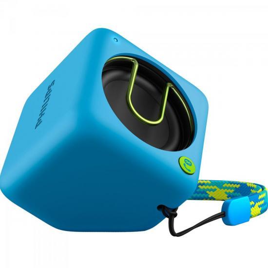 Caixa Multimídia 2W Wireless/Bluetooth/Microfone BT1300A/00 Azul PHILIPS