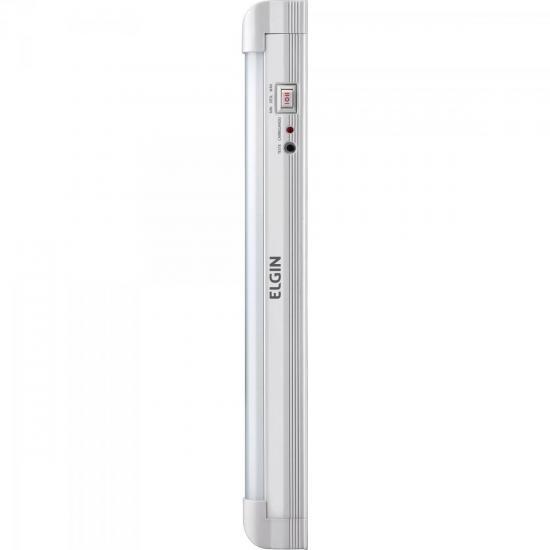 Iluminação de Emergência Tubular C/30 LEDs 4W Bivolt Branco Frio ELGIN